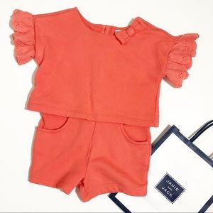 NWOT Janie and Jack Flutter Sleeves Short Romper 3